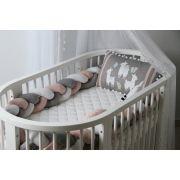 Trança 2 Metros Rosa Quartzo 200 Fios - ac Baby Ref 05581