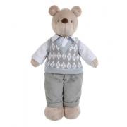Urso de Pelucia Bob Colete Tricot Escocês Silvia Polito
