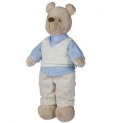 Urso de Pelucia Bob Colete Tricot Silvia Polito Ref 190