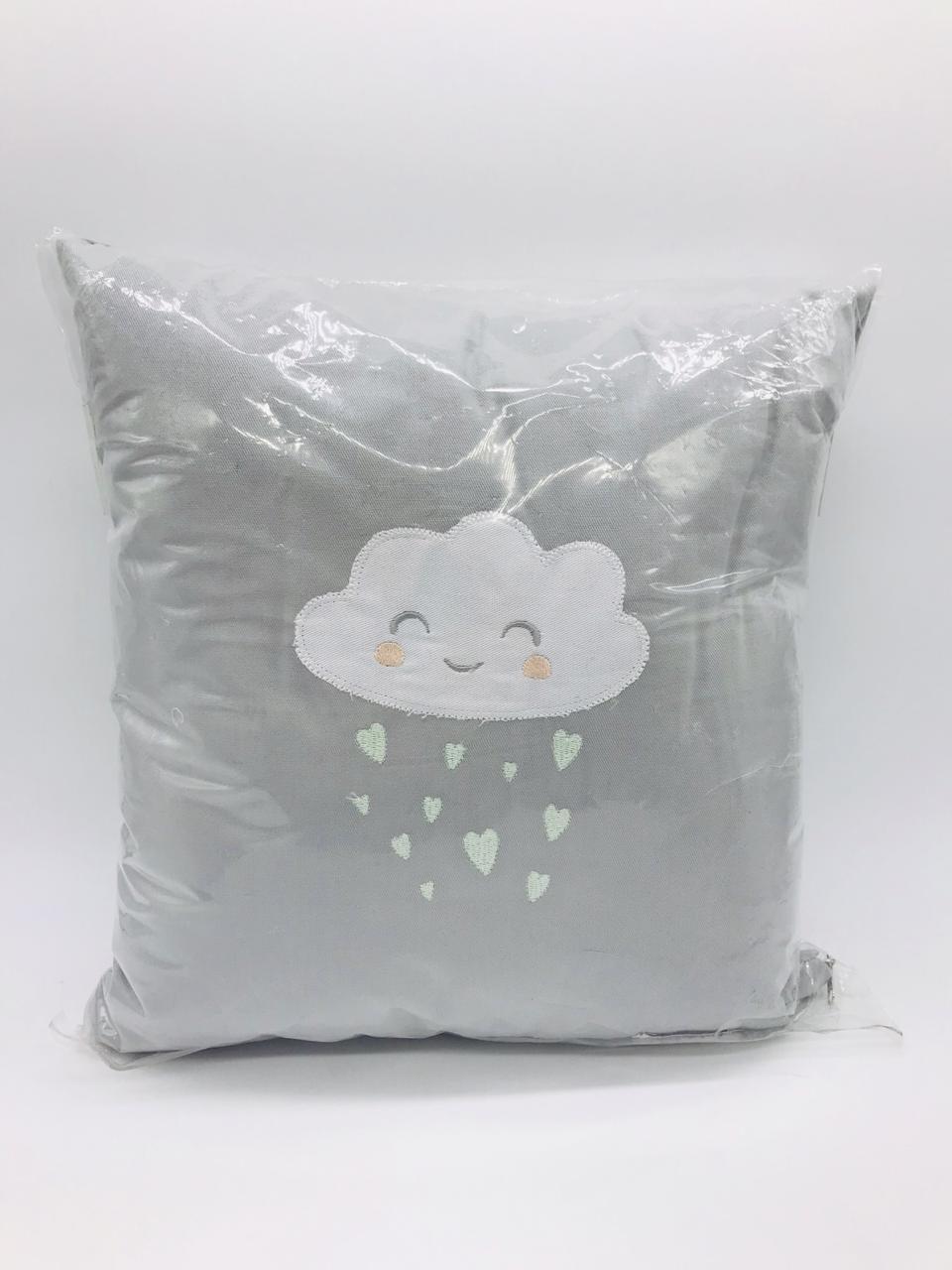 Almofada Cinza Nuvem - Coisa de Mãe