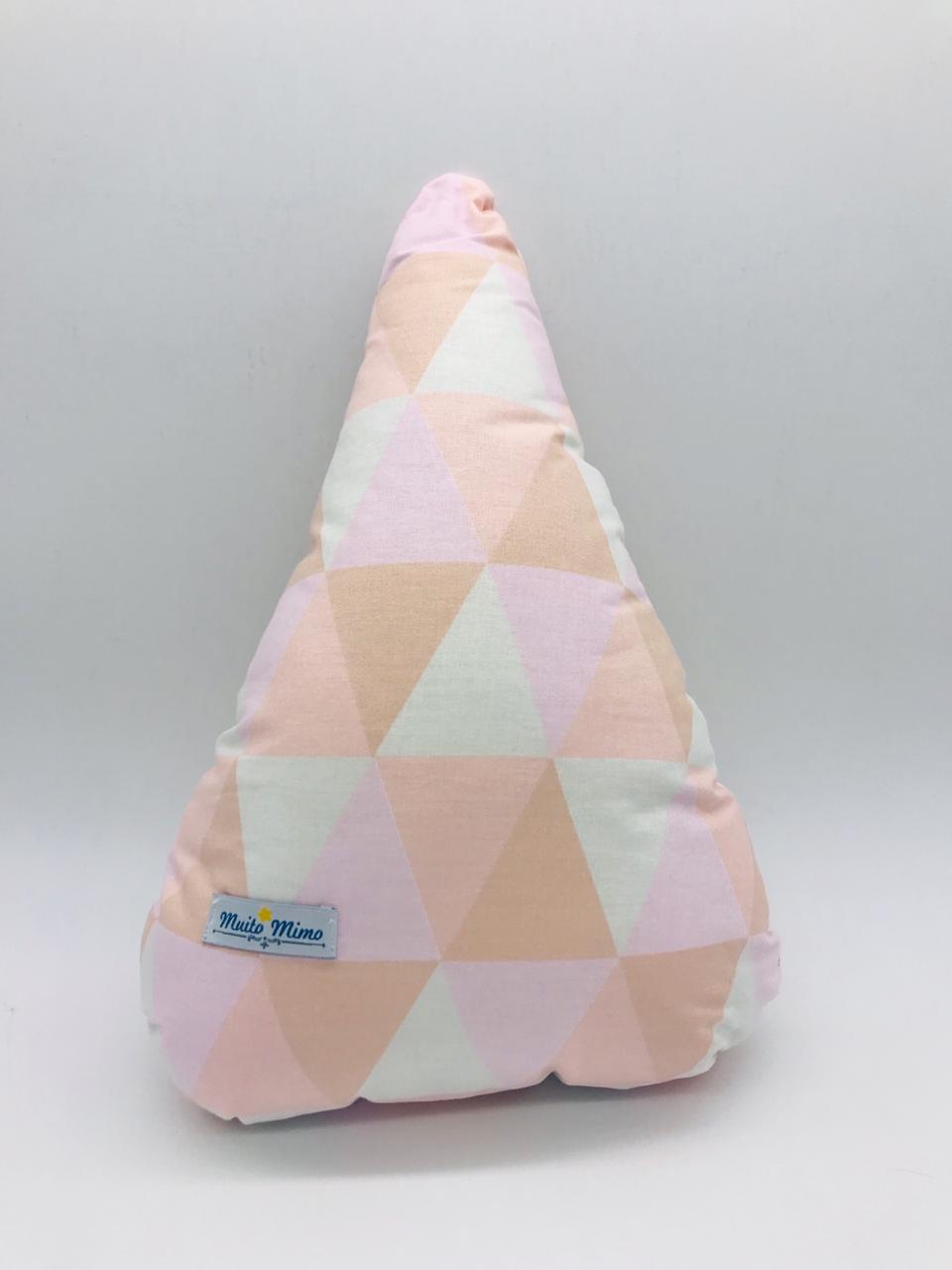 Almofada Gota Triangulo Rosa - m Mimo Minasrey Ref 5556