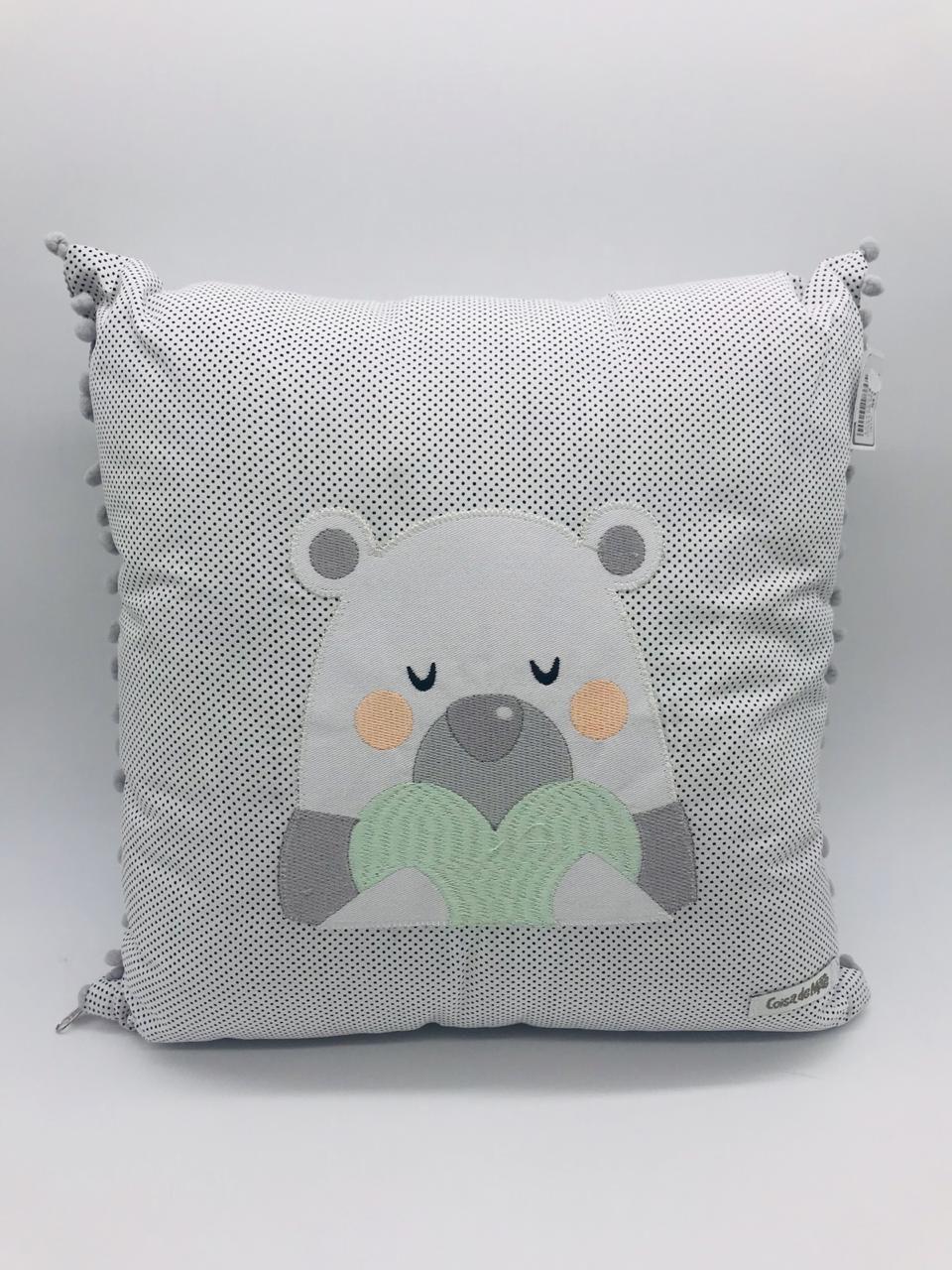 Almofada Poa Urso - Coisa de Mãe