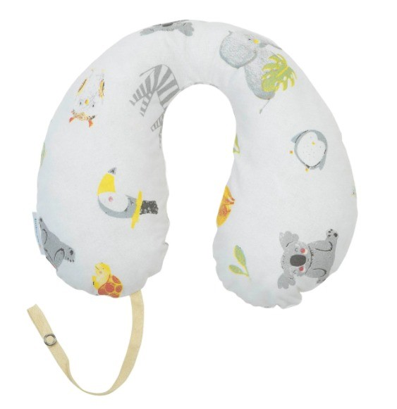 Apoio de Pescoço Com Prendedor de Chupeta Anatomico Neutro Baby Joy