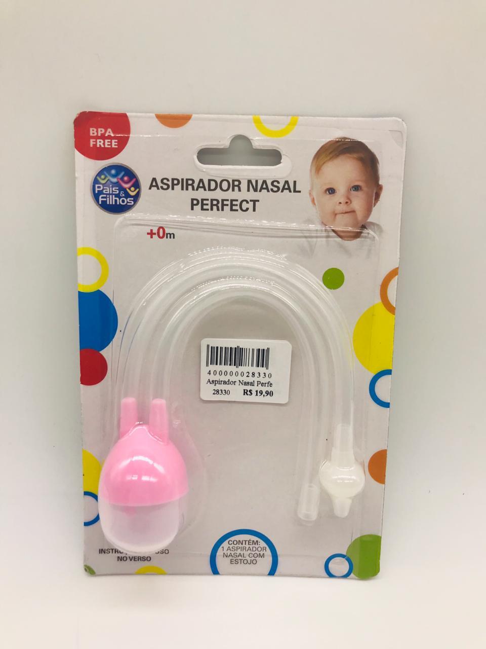 Aspirador Nasal Perfect Rosa - Pais e Filhos Ref 8967
