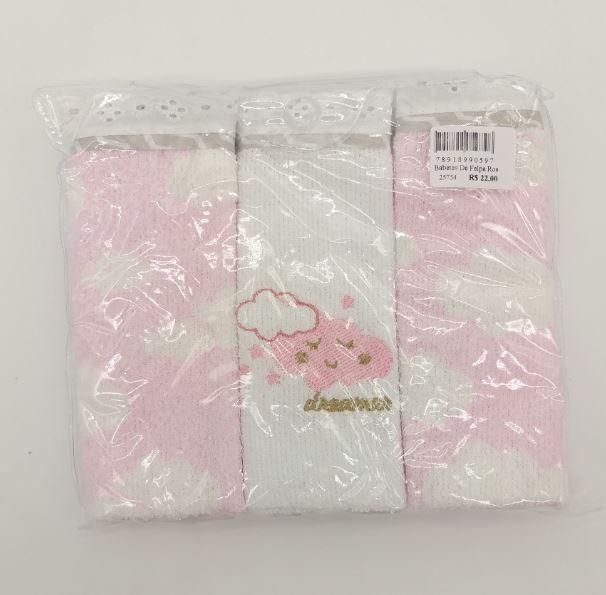 Babetes de Felpa Rosa - Alvinha Minasrey Ref 5972
