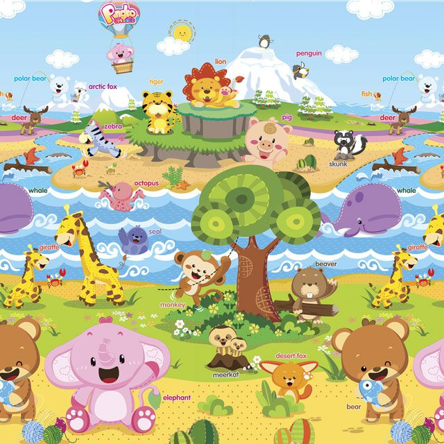 Baby Play Mat Médio Animal Friends 1,85 x 1,25 - Safety 1st