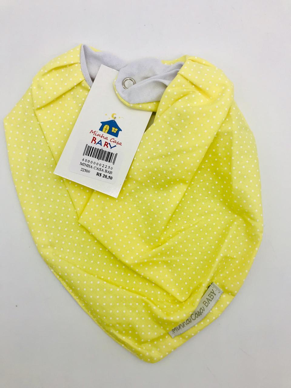 Bandana Bolinhas Amarelas - Minha Casa Baby
