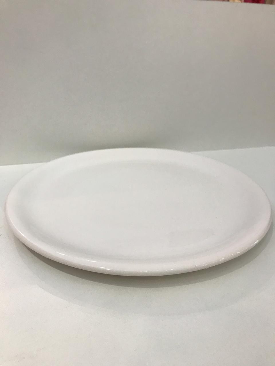 Bandeja Porcelana Redonda Branca 1 UND - Rossi Niero
