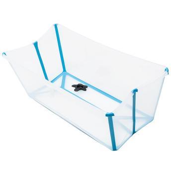 Banheira Dobrável Transparente Azul Stokke - Girotondo Baby  Ref W328809