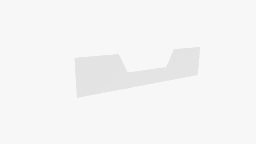 Barra Transferencia Berço em Mini-Cama Majestic Branco Fosco - Quater Ref 1931