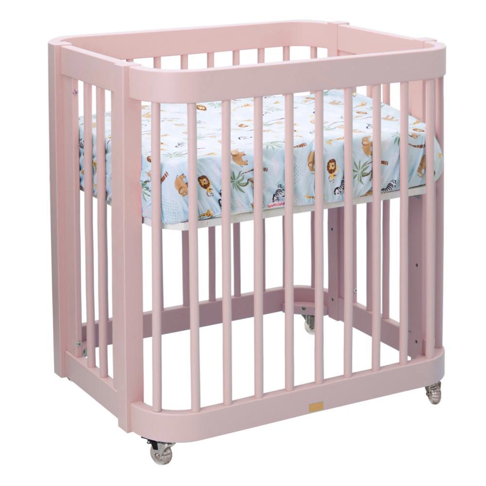 Berço Evolutivo Quater Rosa Bebê 3 em 1 - Quater Ref:715