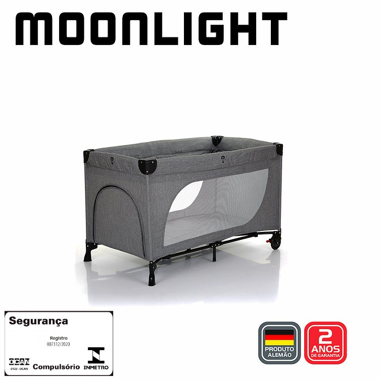 Berço Moonlight Woven Grey - Abc Design