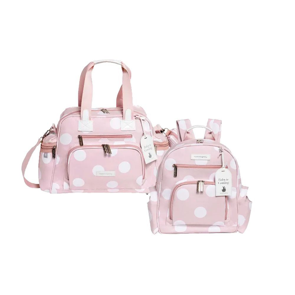 Bolsa Térmica Everyday Bubbles Rosa + Mochila Noah Bubbles Rosa - Masterbag
