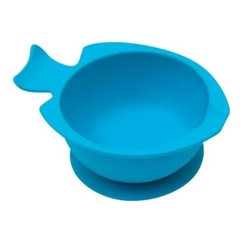 Bowl de Silicone Com Ventosa Azul - Buba Ref 12638
