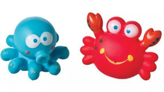 Brinquedos de Banho Caranguejo e Polvo - Girotondo