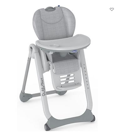 Cadeira de Papa Polly 2 Start Happy Silver - Chicco