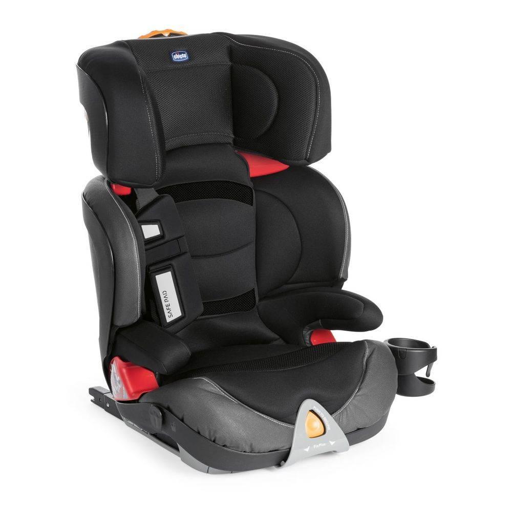 Cadeira Auto Oasys 2-3 Fixplus Evo Jet Black - Chicco