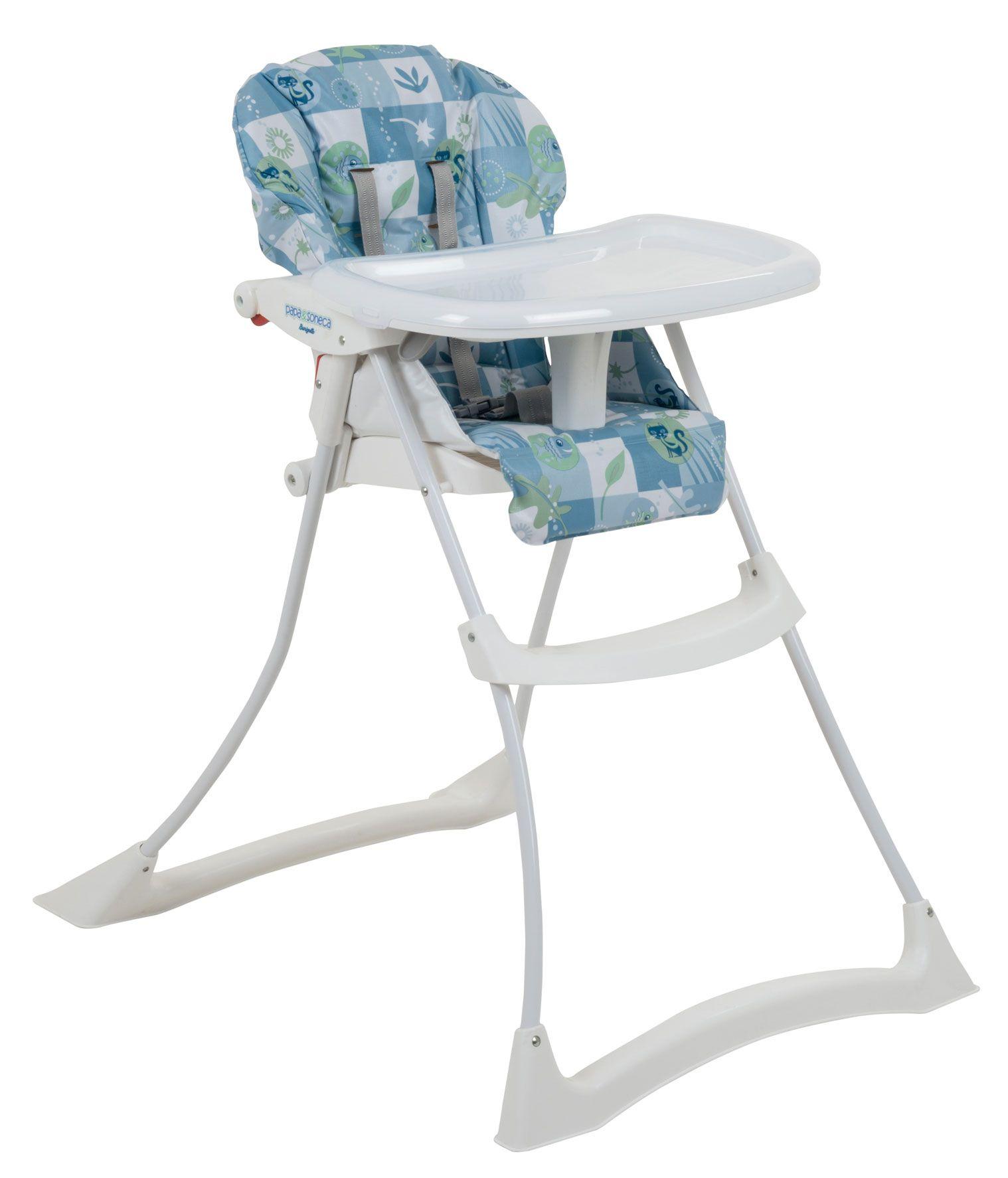 Cadeira Refeição Papa e Soneca Peixinhos Azul - Burigotto  Ref 3047 Peixinhos Azul