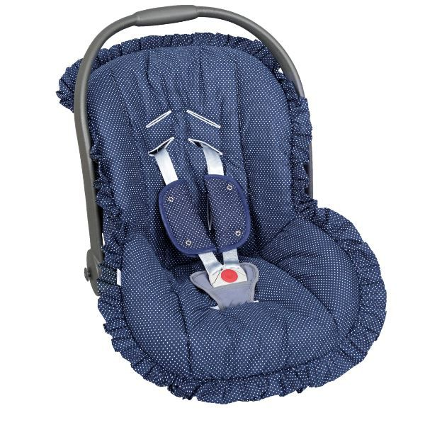 Capa de Bebê Conforto Poa Marinho - Batistela Ref 02005