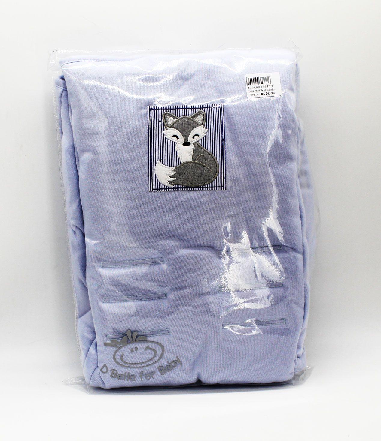 Capa Para Bebe Conforto Azul Raposa - D Bella Ref 02449 001 U