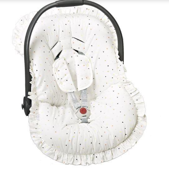 Capa Para Bebê Conforto Estampado e Protetor de Cinto Colorido - Batistela Ref 02063