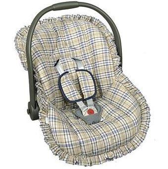 Capa Para Bebê Conforto Xadrez - Batistela Ref 2063