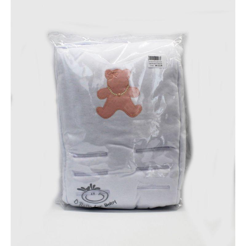 Capa Protetor Para Bebe Conforto Rose Ursa  Suedine - D Bella Ref Cl 2296 004U