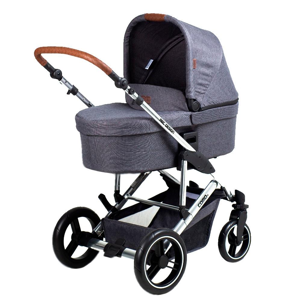 Carrinho Como 4 Diamond Asphalt Moises Bolsa e Bebê Conforto - Abc Design