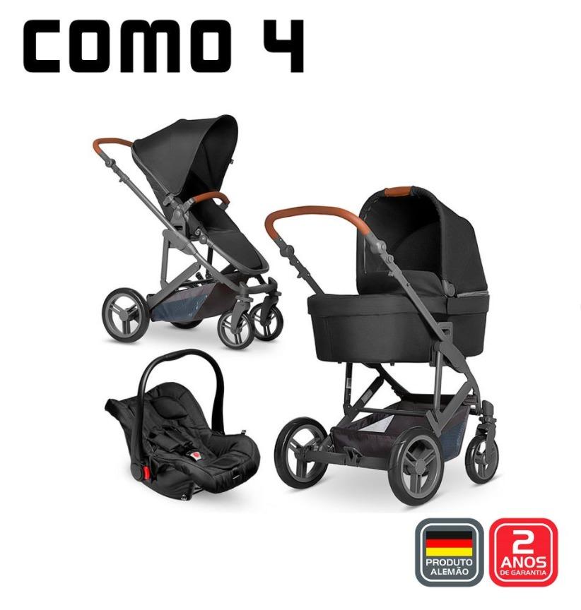 Carrinho Como 4 Moisés Bebê Conf Adap Woven Black - Abc Design
