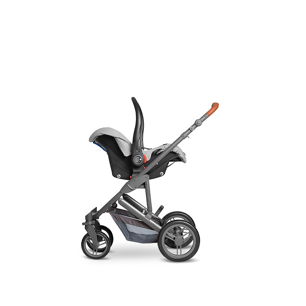 Carrinho Como 4 Moisés Bebê Conf Adap Woven Grey - Abc Design