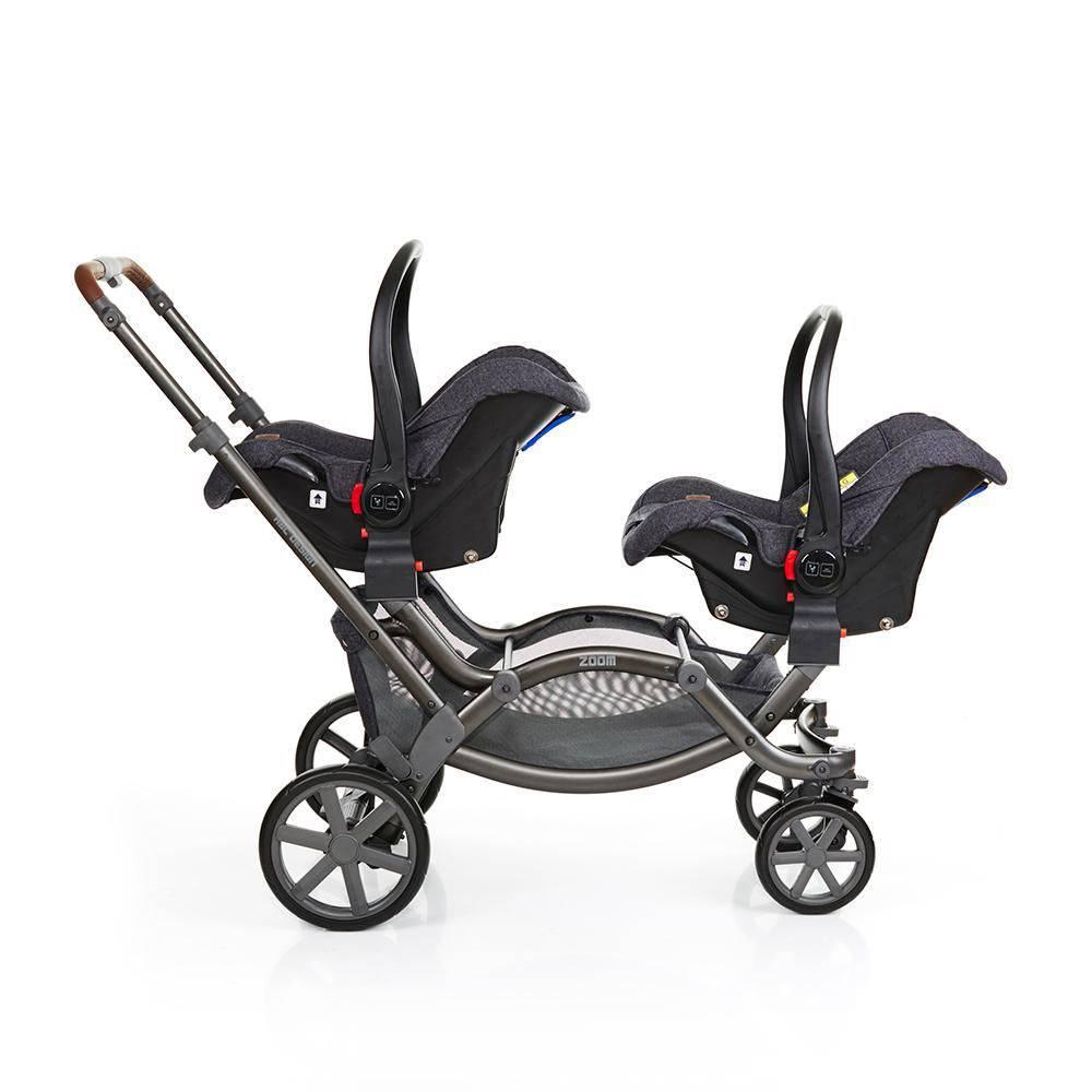 Carrinho Gêmeos Zoom Style Street Bebê Conforto e Adaptador - ABC Design
