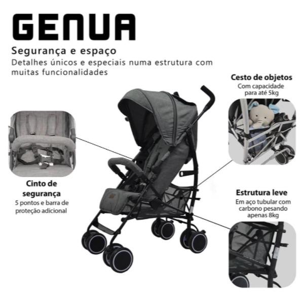 Carrinho Genua Woven Black - Abc Design