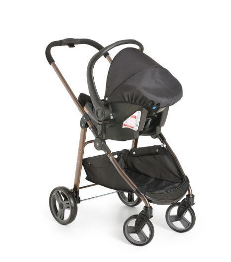 Carrinho Olympus Black com Bebê Conforto - Galzerano