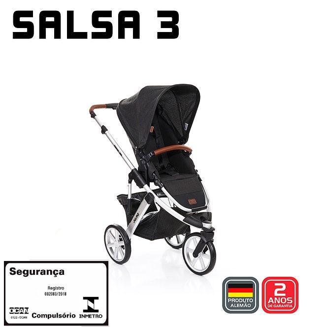 Carrinho Salsa 3 Com Moisés Piano - Abc Design