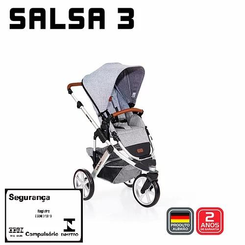 Carrinho Salsa 3 Graphite Grey Sem Moisés - Abc Design