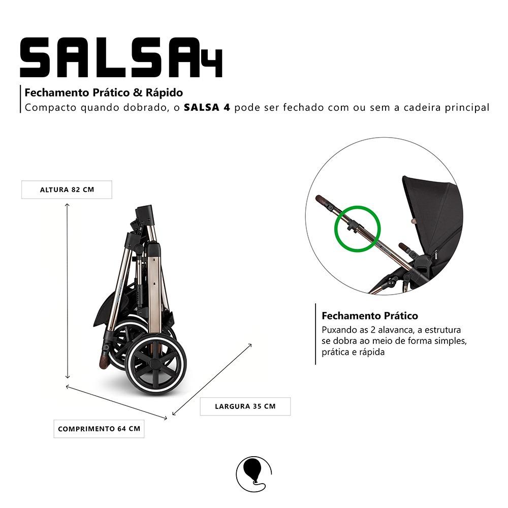 Carrinho Salsa 4 Dolphin Diamante Sem Moises - Abc Design