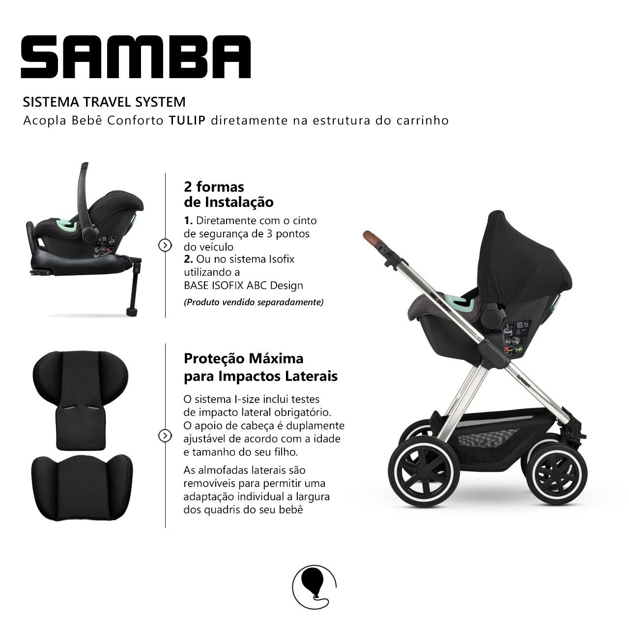 Carrinho Samba Asphalt Diamante - ABC Design