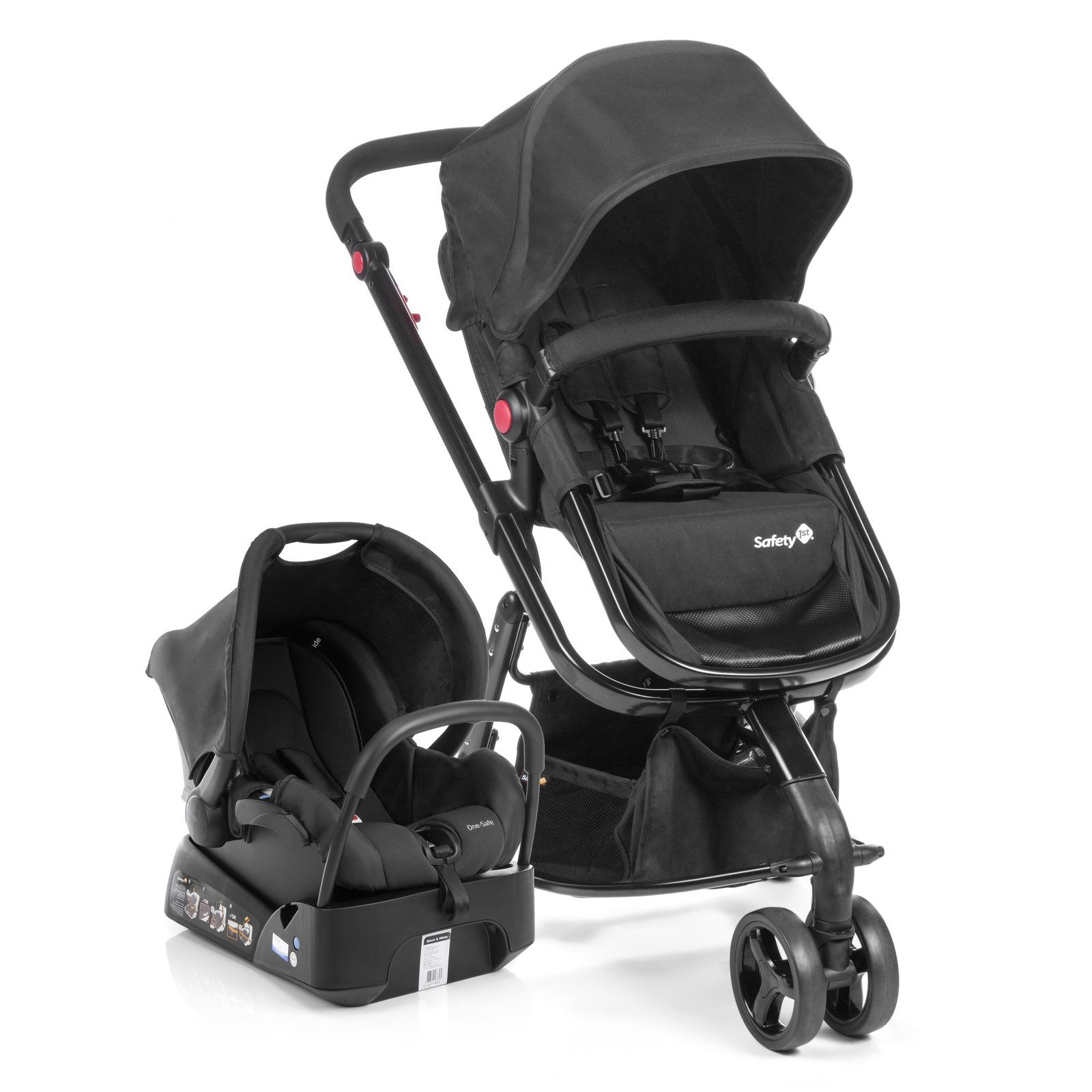Carrinho Travel System Mobi Full Black Safety 1st - Dorel  Ref T5003ts