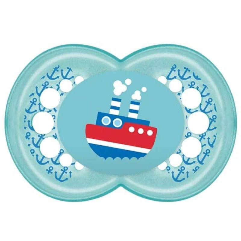 Chupeta Ortodontica 6 Meses Tam 2 Azul - Mam Ref 2633