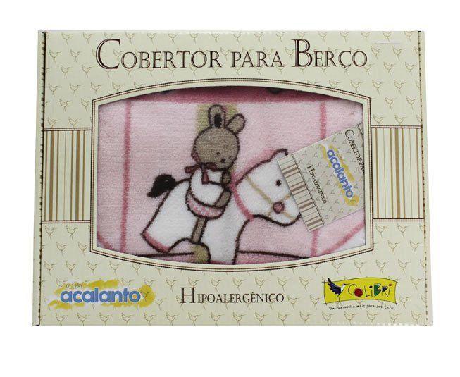 Cobertor Acalanto Carrossel Rosa - Colibri