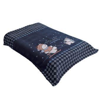Cobertor Acalanto Ursinho Polar Marinho - Colibri Ref 2082090840201