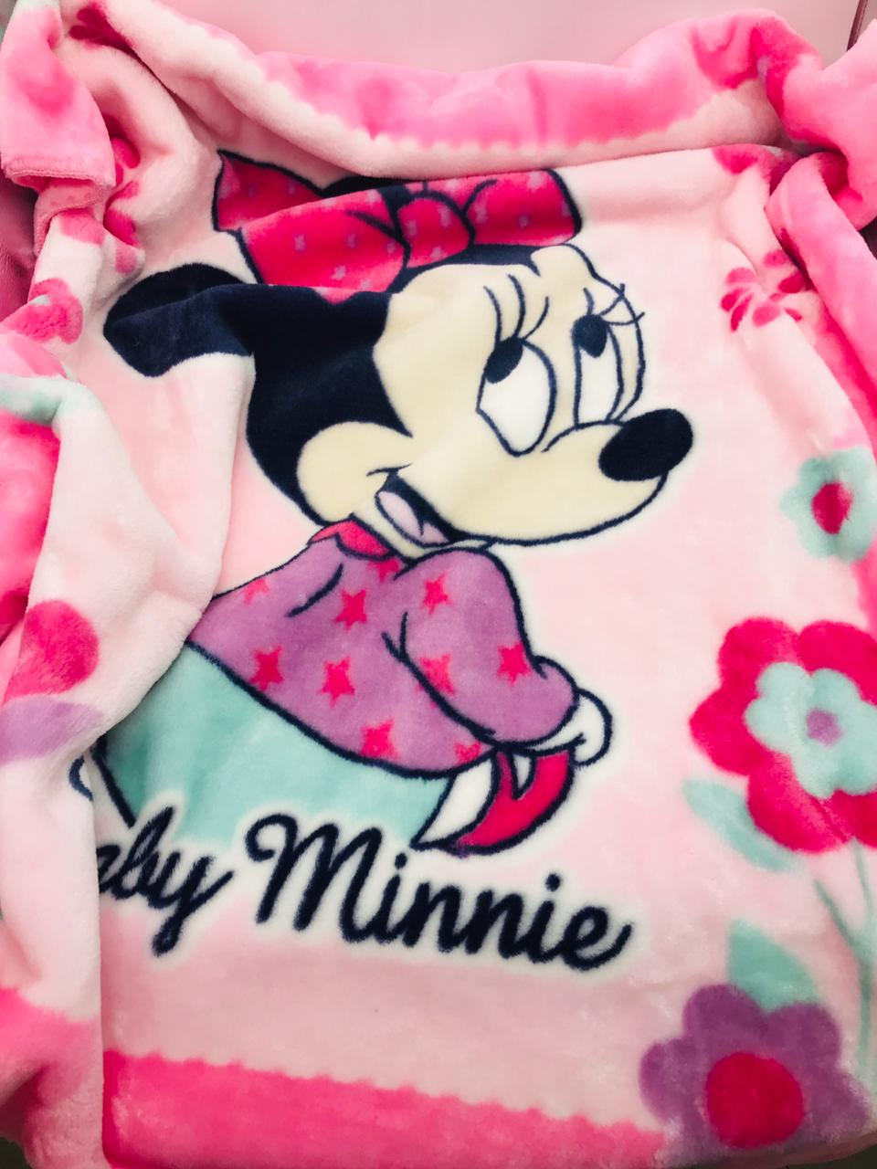 Cobertor Infantil Disney Minnie Sentada - Raschel Jolitex Ref 04155