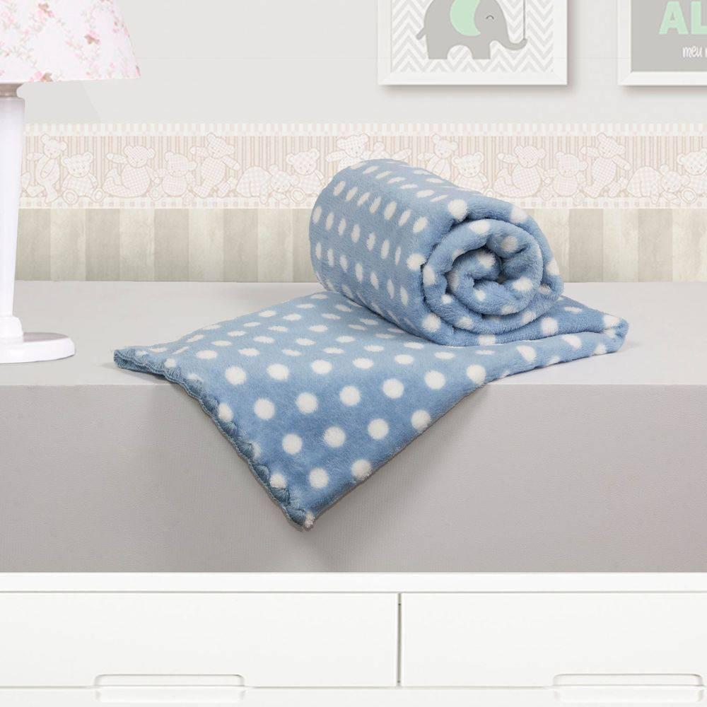 Cobertor Microfibra Poa Azul - Camesa Ref 8737