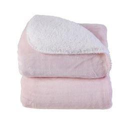 Cobertor Microfibra 1,10x0,90 Rosa Bebê -  Laço Bebê Shermam