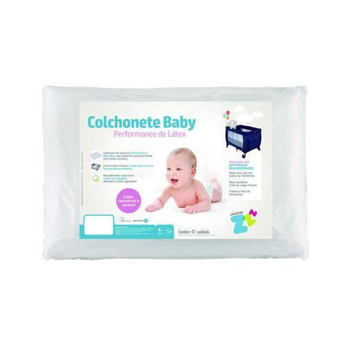 Colchonete Baby Performance Latex 65 x 90 Branco - Fibrasca Ref Z7650