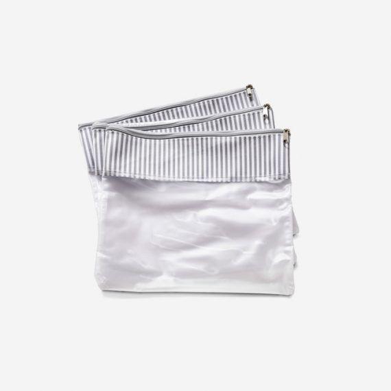 Conjunto 3 Saquinhos Bubbles Cinza - Masterbag Ref 12bub604