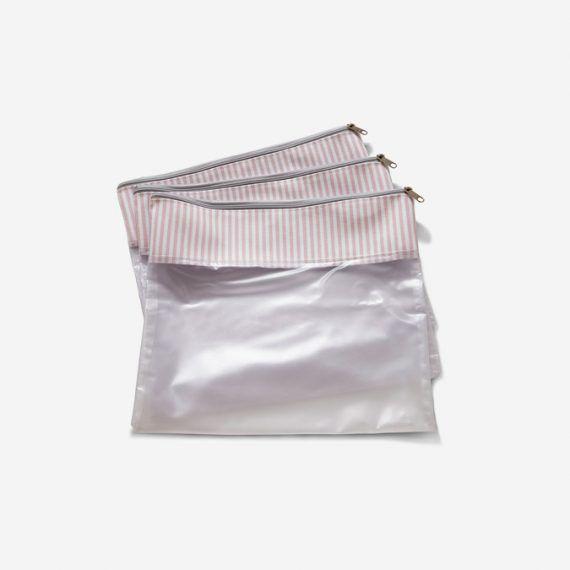 Conjunto 3 Saquinhos Bubbles Rosa - Masterbag Ref 12bub604
