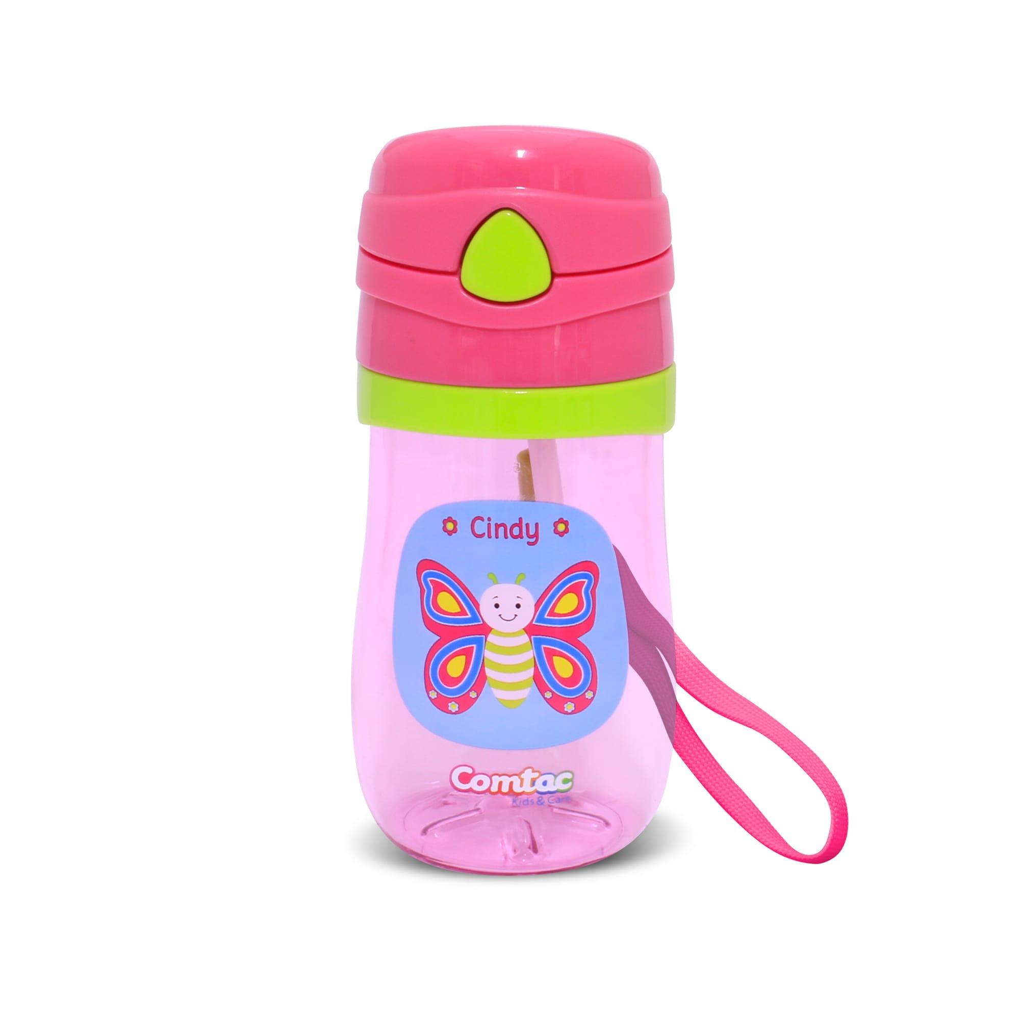 Copo Plástico Com Canudo Pop up  Borboleta Cindy - Comtac