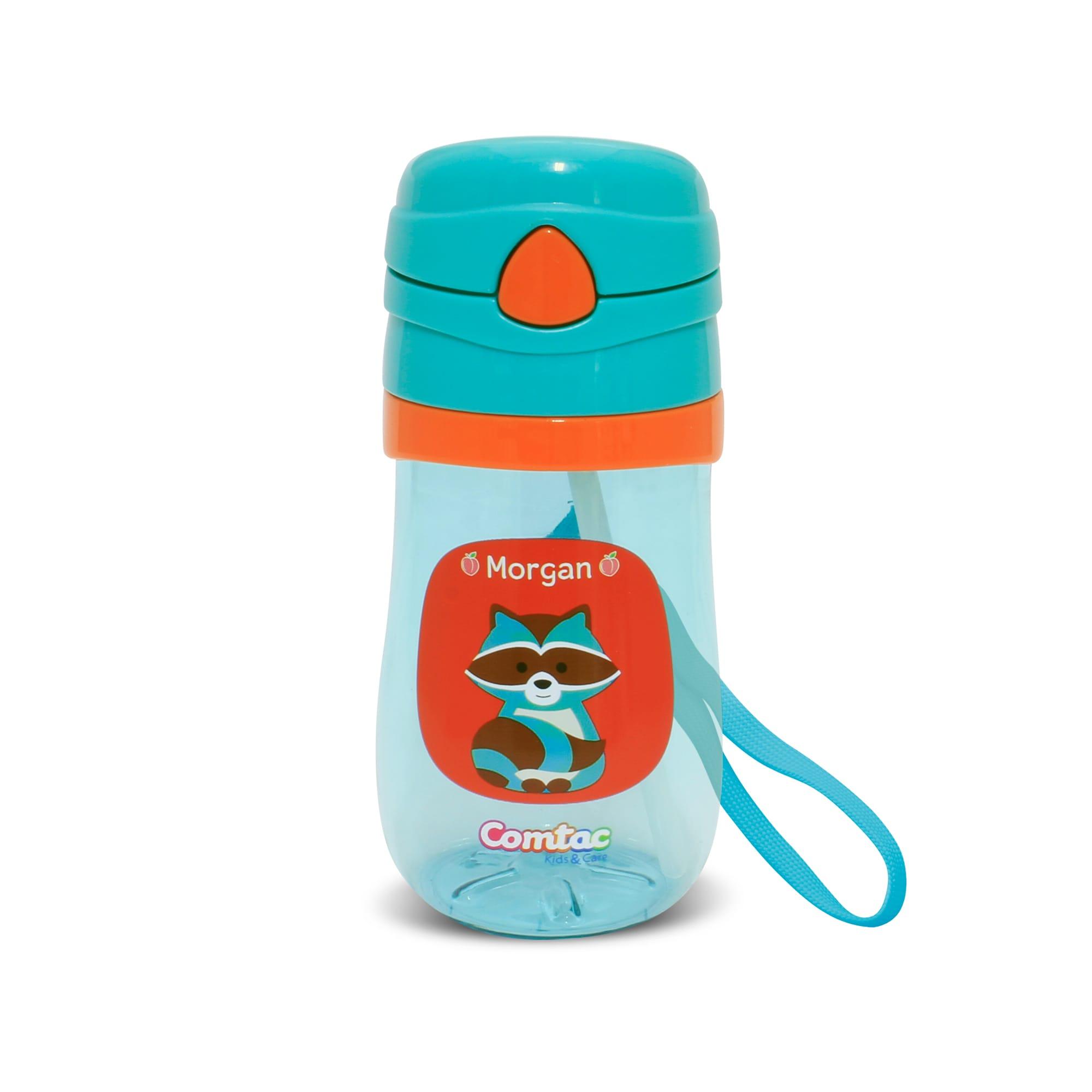 Copo Plástico Com Canudo Pop up Guaxinim Morgan - Comtac