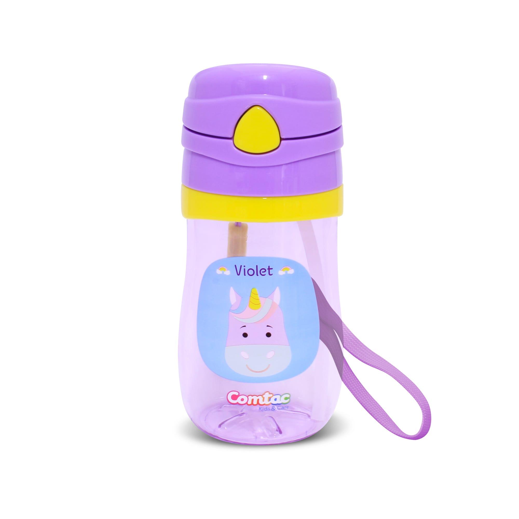 Copo Plástico Com Canudo Pop up  Unicórnio Violet - Comtac